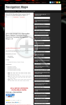 2012 MCSII Mercedes Benz Comand North AmericaCanada Navigation Maps V 9 Full Version preview. Click for more details